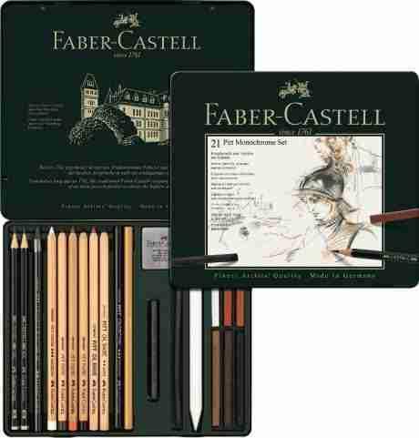 Faber Castel set pitt monochorome 21pz colorificio grossich