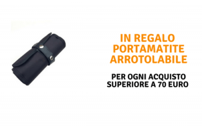 In regalo il portamatite arrotolabile