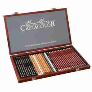 Cretacolor Set Sketch Graphite Box Legno