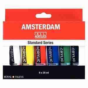 Amsterdam Acrylic Set 6 colori da 20 ml