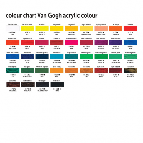 Cartella colori Van Gogh Acrilico Royal Talens da 40 ml