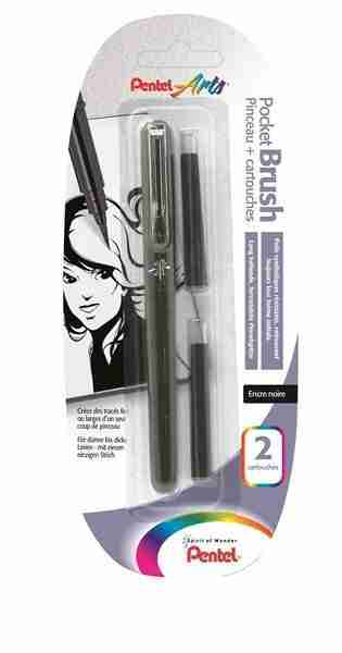 Poket Brush Pentel con cartuccie10