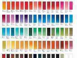 cartella colori artist winsor10
