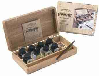 cassetta legno calligrafia winsor10