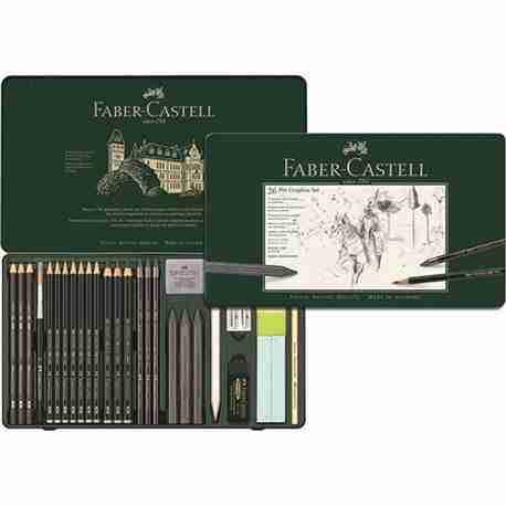 faber castell set pitt graphite large pezzi 2610